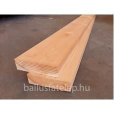 Gyalult szárított padló, AB északi orosz borovi, 40x146x4000 mm