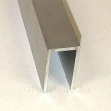 ALU U lezáró profil 10 mm, 25x13 mm, natúr alu, 2,31 m