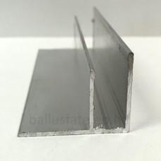 ALU F (sarok) 10 mm, natúr alu, 3 m