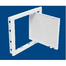 Műanyag szervizajtó - 15 x 15 cm - fehér