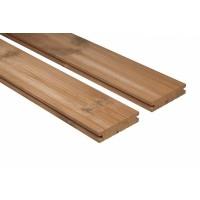 Thermowood teraszburkoló, (hőkezelt) A, D30SG profil, (bordázott) klipszes, borovi fenyő, 26x140mm