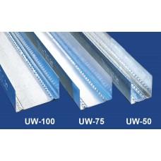 Vízszintes falvázprofil - 0,5 mm UW50 - 4 fm/db
